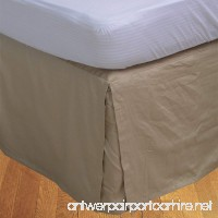 "Reliable Textiles 1 PCs Split Corner Bed Skirt/Dust Ruffle (18"" Inches) Drop Length (Taupe Solid  King/ Standard - 76"" x 80"") 400 Thread Count 100% Egyptian Cotton - B07CQS4N9D"