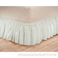 Solid Wrap Around Elastic Bed Skirt by OakRidge ComfortsTM  Queen King  Beige - B015HE1YIK