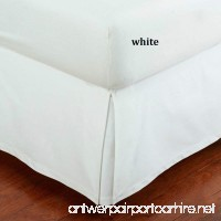 """SRP Bedding Real 350 Thread Count Split Corner Bed Skirt / Dust Ruffle Queen Size Solid White 12"""" inches Drop Egyptian Cotton Quality Wrinkle & Fade Resistant - B01GIPRJBI"""