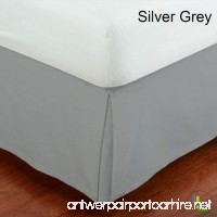 SRP Bedding Real 450 Thread Count Split Corner Bed Skirt / Dust Ruffle California King/ Cal King Size Solid Silver Grey 18 inches Drop Egyptian Cotton Quality Wrinkle & Fade Resistant - B01GZ4A1X0