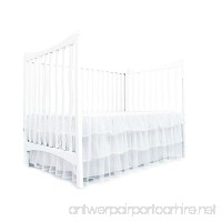 Tadpoles Triple Layer Tulle Crib Skirt in White - B06XWQ7MXT