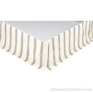 VHC Brands Boho & Eclectic Farmhouse Bedding-Grace White Skirt Queen Red - B077VF6RNL
