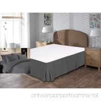 "Vivacious Collection Hotel Quality 800TC Split Corner Bed Skirt 18"" Drop length 100% Egyptian Cotton Bedskirt King Size Grey Solid - B077HV1HJ5"