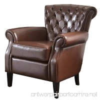 Best Selling Franklin Bonded Leather Club Chair  Brown - B003G2ZL6C