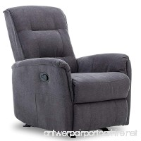 BONZY Glider Recliner Chair with Super Comfy Gliding Track Overstuffed Backrest  Comfy Recliner Sofa - Gray - B07FDKTSB3