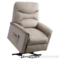 BONZY Lift Chair Microfiber Power Lift Recliner - Gray - B07CTBP9LS