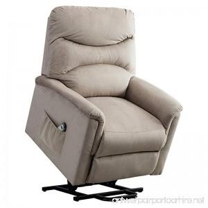 BONZY Lift Chair Microfiber Power Lift Recliner - Gray - B07CTBP9LS