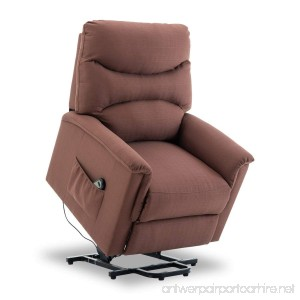 BONZY Lift Recliner Chair Power Lift Chair with Gentle Motor Durable Ribstop - Tan - B07DGX1RZB