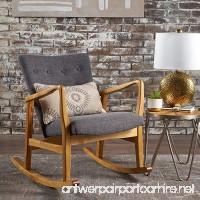 Collin Mid Century Fabric Rocking Chair (Grey) - B0756PX6L7