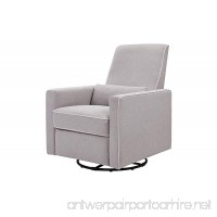 DaVinci Piper All-Purpose Upholstered Recliner with Cream Piping Grey Finish - B01B97NOB4