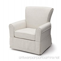 Delta Children Upholstered Glider Swivel Rocker Chair Sand - B076JYQ3LZ
