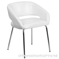 Flash Furniture Fusion Series Contemporary White Leather Side Reception Chair - B01MXM5LJA
