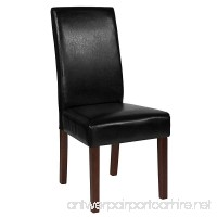 Flash Furniture Greenwich Series Black Leather Parsons Chair - B07BWLLJBF