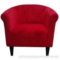 Foxhill Trading Savannah Club Chair Red Microfiber - B00EAZHW0M