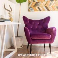 Halifax | Velvet Button-Tufted Arm Chair | Fuchisa - B01N0OP348