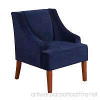 HomePop K6499-B215 Swoop Arm Accent Chair Living Room Furniture  Medium  Navy - B00YSQQ7FE