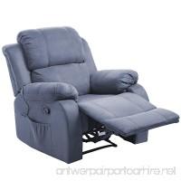 Merax Power Massage Reclining Chair with Heat and Massage Heated Vibrating Suede Massage Recliner - B01MG03C0I