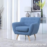 Mid Century Modern Tufted Button Living Room Accent Chair (Blue) - B013F6WEZY