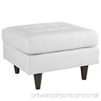 Modway Empress Mid-Century Modern Upholstered Leather Ottoman In White - B00RXULKFO