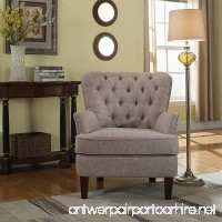 NHI Express 92005-16TP Button Tufted Chair 31 W x 35 D x 37.5 H Taupe - B072QVM3SB