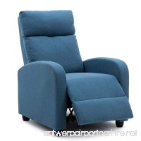 NOBPEINT Recliner Chair Blue Lounger Fabric Living Room Recliner Modern Recliner Sofa Seat Home Theater - B07DG21JHB