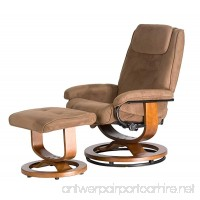 Relaxzen Deluxe Leisure Recliner Chair with 8-Motor Massage & Heat  Brown - B003H2I2ZS