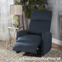 Sophie Tufted Fabric Power Recliner Chair (Navy Blue) - B07575X86T