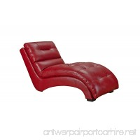 Abbey Avenue A-CLE-131CHS Cleo Chaise Thomas PU Red - B0769HWWQ8