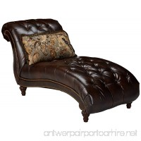 Ashley Furniture Signature Design - Winnsboro Chaise - Traditional - Vintage Brown - B01M8QRV5W