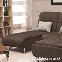 Coaster Ellwood Transitional Brown Living Room Chaise Sleeper Sofa Bed - B009BE6O3I
