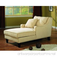 Coaster Transitional Beige Microfiber Chaise Lounge - B000W6O3W8