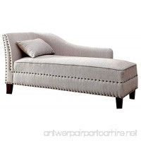 HOMES: Inside + Out IDF-CE2185BG Laura Contemporary Chaise Lounger Beige - B0758DQ3JM
