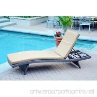 Jeco WL-1_CL1-FS006 Wicker Adjustable Chaise with Tan Cushion  Espresso - B00YPNDXAM