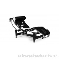 Kardiel Gravity Chaise Lounge Black & White Cowhide with matching pillow - B00PD73RBE