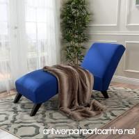 Swanson Royal Blue Fabric Chaise Lounge - B01MZ3YZMZ