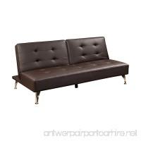 Abbyson® Hudgens Faux Leather Sofa Bed Brown - B07D77YFGB