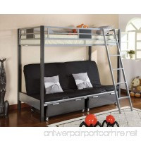 Contemporary Style Twin / Futon Bunk Bed with Twin Trundle - B009OJF5LM