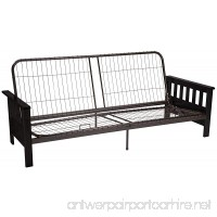 Epic Furnishings Berkeley Mission-style Futon Sofa Sleeper Bed Frame Queen-size Black Arm Finish - B013EAATUS