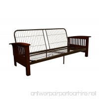 Epic Furnishings Brentwood Mission-Style Futon Sofa Sleeper Bed Frame  Queen-size  Mahogany Arm Finish - B013EAINPG