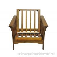 Gold Bond AOSHC + BO28C Boston Cherry Oak Futon Frame Chair 28 Brown - B01M0ZBG6V