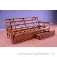 Monterey Futon Sofa in Barbados Finish with Storage Drawers - B01DPWHYV2