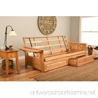 Phoenix Futon in Natural Finish with Storage Drawer - B01DPWHF0M