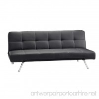 Sauder 413193 Convertible  Sofa Black Cooper - B009AT8NQU