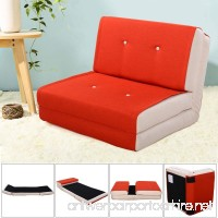 Apontus Fold Down Chair Flip Out Lounger Convertible Sleeper Bed Couch Game Dorm Orange - B079NQ3LDW