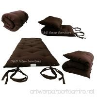 Brand New Brown Traditional Japanese Floor Futon Mattresses  Foldable Cushion Mats  Yoga  Meditaion. - B003VQVZP4