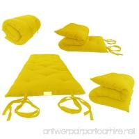 "Brand New Yellow Traditional Japanese Floor Futon Mattresses 3""thick X 30""wide X 80""long  Foldable Cushion Mats  Yoga  Meditaion. - B003VQWKJ4"