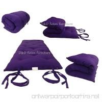 "D&D Futon Furniture Brand New Purple Full Size Traditional Japanese Floor Futon Mattresses  Foldable Cushion Mats  Yoga  Meditaion 54"" Wide X 80"" Long - B009HE2OVI"
