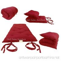"D&D Futon Furniture Brand New Red Full Size Traditional Japanese Floor Futon Mattresses  Foldable Cushion Mats  Yoga  Meditaion 54"" Wide X 80"" Long - B009HDZXJE"