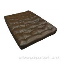 """Gold Bond 0614L0-0110 9"""" Moonlight Futon Mattress  Leather  Twin  Brown - B01LYEJ9JR"""