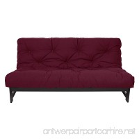 Mozaic 10-Inch Cotton Gel Pocket Coil Futon Mattress  Full  Burgundy - B00RE9GGPS